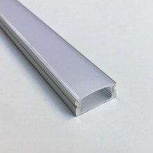 10pcs 1m/pcs LED aluminum profile for led strip milky transparent cover tape light housing aluminium led profile Model 07B