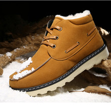 Winter new short boots warm font b Men s b font boots British style men keep