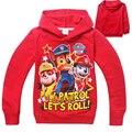 Nova meninos roupas Hoodies de patrulha patrulha roupas crianças camisolas para menino dos desenhos animados crianças Hoodies meninas traje