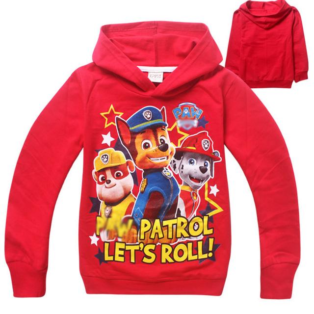 Novos meninos roupas Hoodies Dog Patrol Patrol roupas crianças camisolas para meninos dos desenhos animados Casual crianças Hoodies meninas Tops Costume