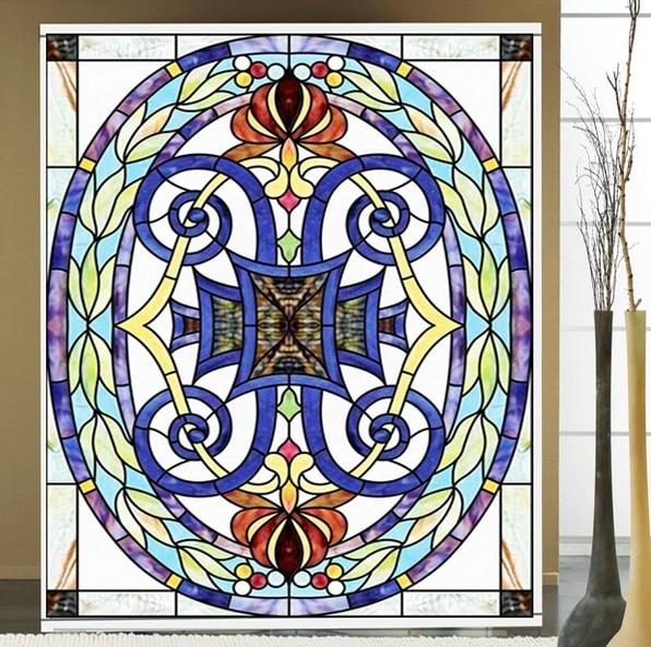 Custom size  Window Films Vintage European Style Art Translucent Self Adhesive Glass Films sticker paper Door Stickers H4009|glass film|glass stickers|vintage window film -