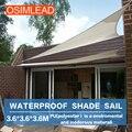 Osimlead 3.6*3.6*3.6 m sol impermeável sombra vela-retângulo canopy cover-toldo do pátio ao ar livre 12*12*12