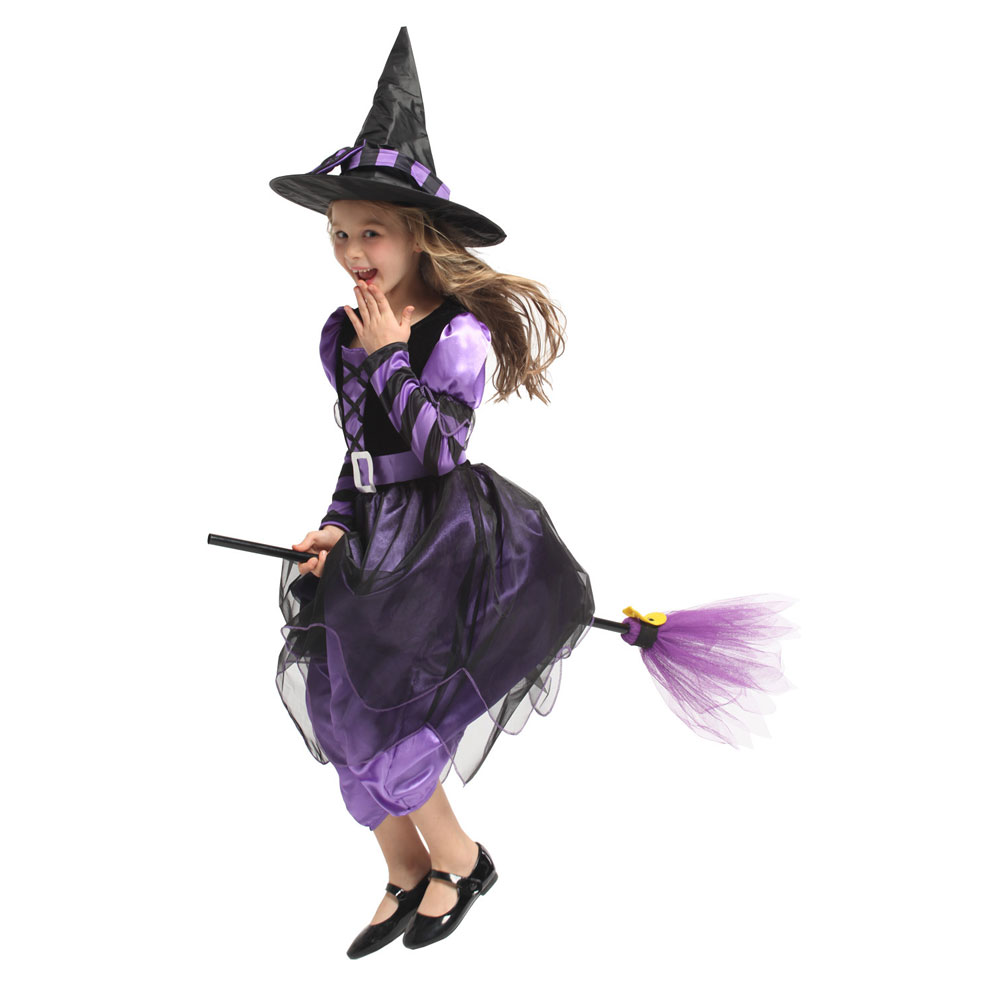 Little Naughty Violet Witch Costume Sorceress Costumes for Girls Girl Halloween Purim Party Carnival Cosplay Dress Up 1
