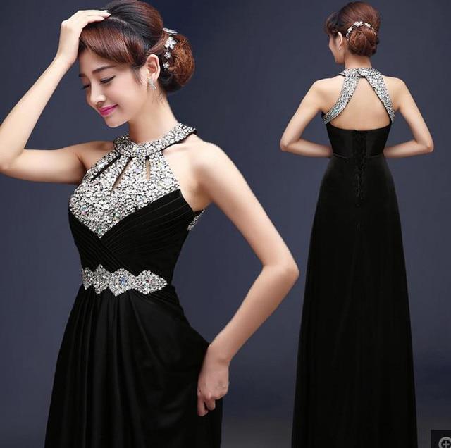 2016 In Stock Fast Shipping Elegant Satin Long Evening Dress Unique ...