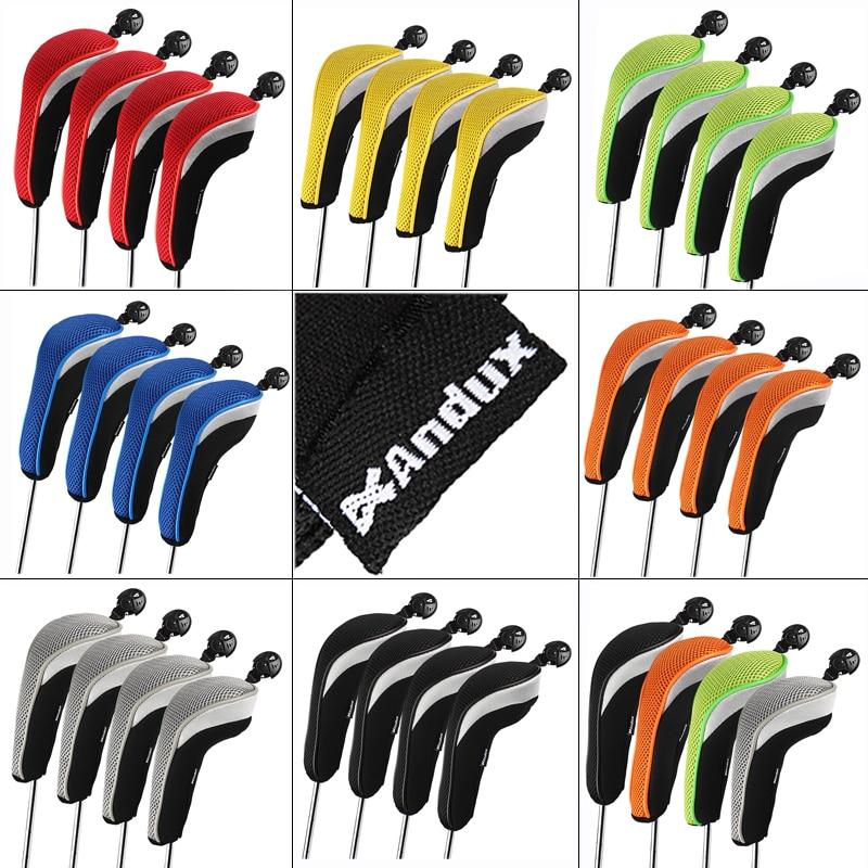 Andux Golf Hybrid Club Head Covers Set Of 4 Interchangeable No. Tag MT/hy06