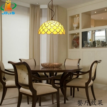 Candelabro de cuentas de cristal retro inglés 40 CM especial Tiffany restaurante dormitorios Bar iluminación de color glaseado nostálgico con