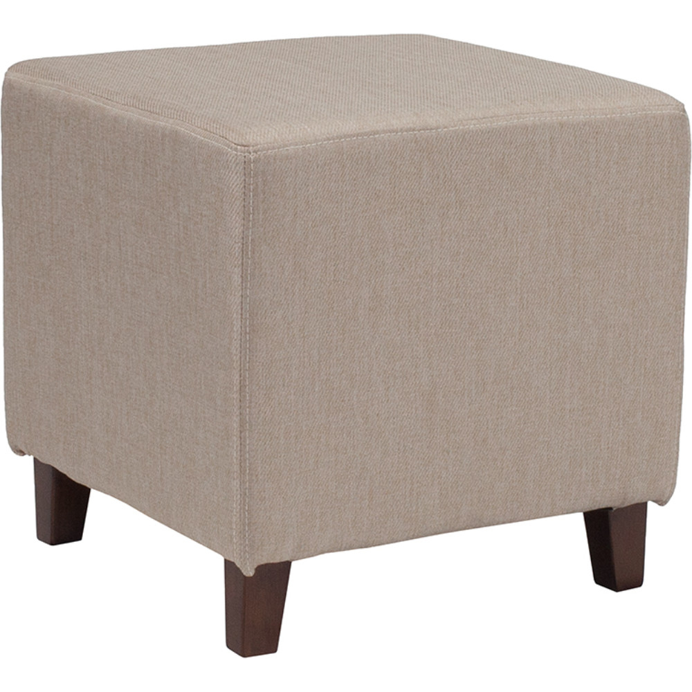 все цены на Ascalon Upholstered Ottoman Pouf in Beige Fabric онлайн