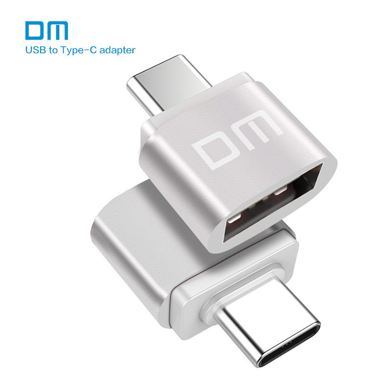 Free shipping DM Type-C Adapter silver USB C Male to USB2.0 Femail USB OTG converter for devices with typec interface