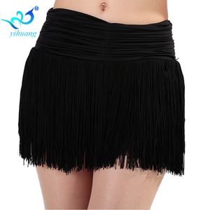 Image 3 - Ladies Latin Dance Costume Skirt Girls Salsa / Rumba / Samba / Belly Dancing Dress Fringe Performance Outfits With Shorts Inside