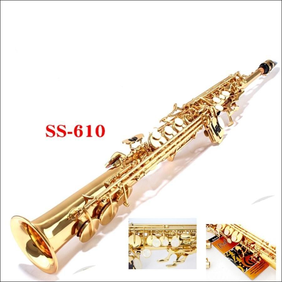 Henri Selma New Soprano Saxophone France SS610 B flat Electrophoresis Gold Top Musical Instruments Sax Soprano professional yanagisawa s901 gold straight gold saxophone soprano b sax gold lacquer soprano saxophone
