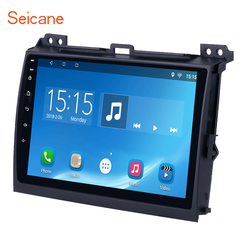 Seicane 2 din Car Radio GPS Android 8.1/7.1 9 HD Touchscreen for 2007 2008 2010 Toyota Prado with Bluetooth WIFI support DVR