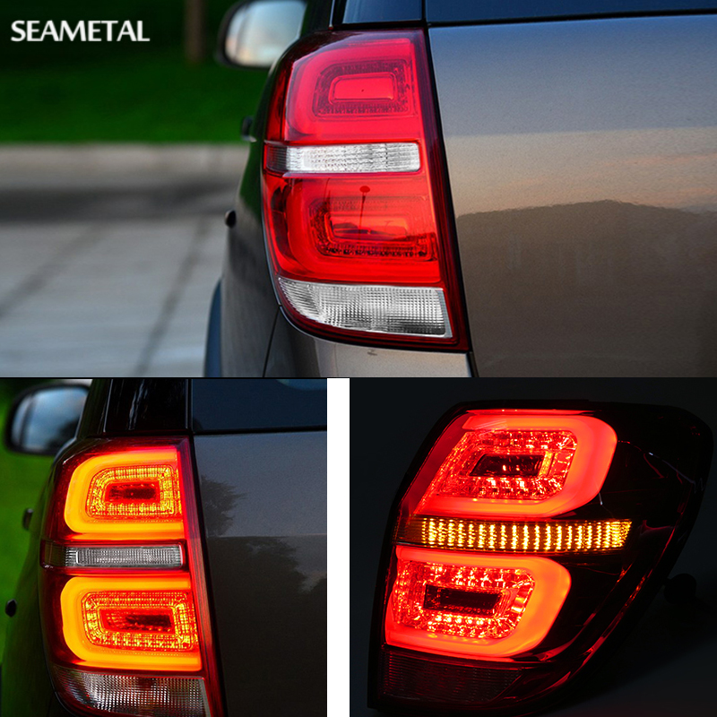 Car LED Rear Tail Lights For Chevrolet Captiva 2008-2011 2012 2013 2014 2015 2016 Auto Lamp DRL Brake+Reversing+Turning Singal car rear trunk security shield shade cargo cover for nissan qashqai 2008 2009 2010 2011 2012 2013 black beige