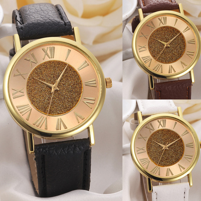 susenstone 2018 New erkek saat Quartz Watch Women Girl Leather Band Wrist Bracel