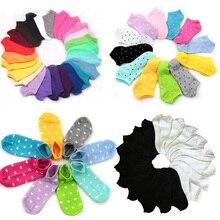 Летние женские носки женские короткие Короткие короткие носки для женщин и девушек с принтом в горошек милые кавайные носки Meias Calcetines Mujer