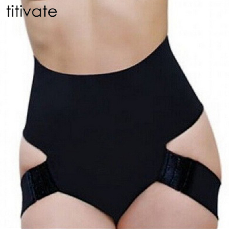 TITIVATE High Waist Women Butt Lifter Shaper Tummy Control Panties Shapewear Thongs Underwear Waist Trainer Plus Size