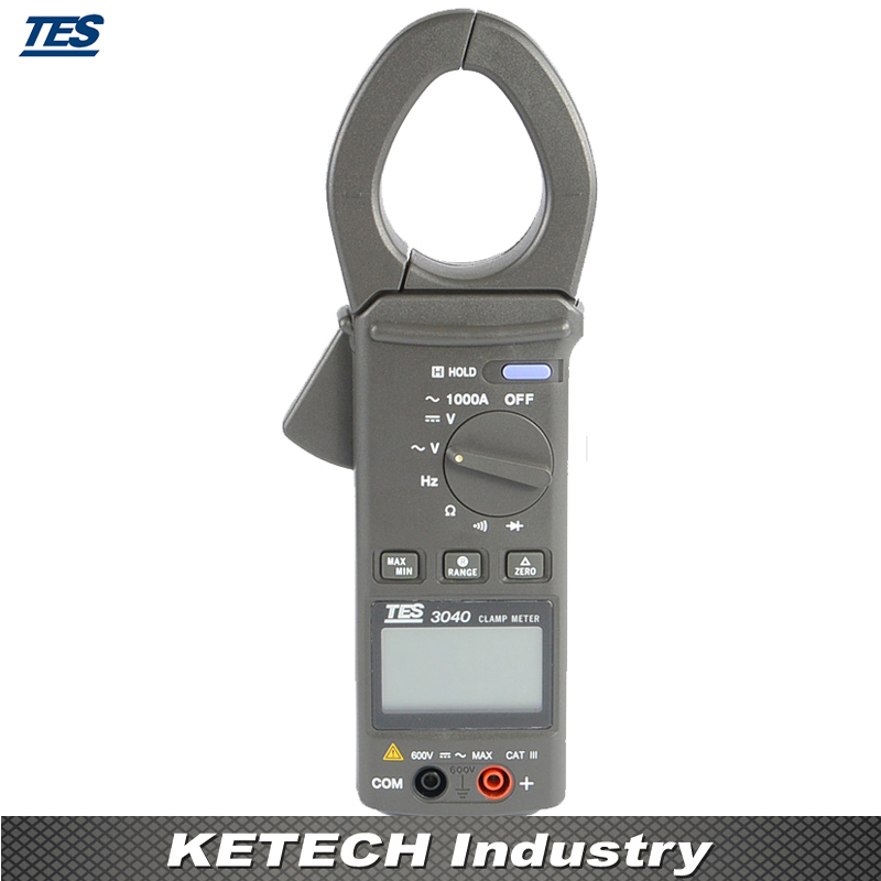 TES-3040 AC Clamp Meter Digital Multimeter Resistance Tester