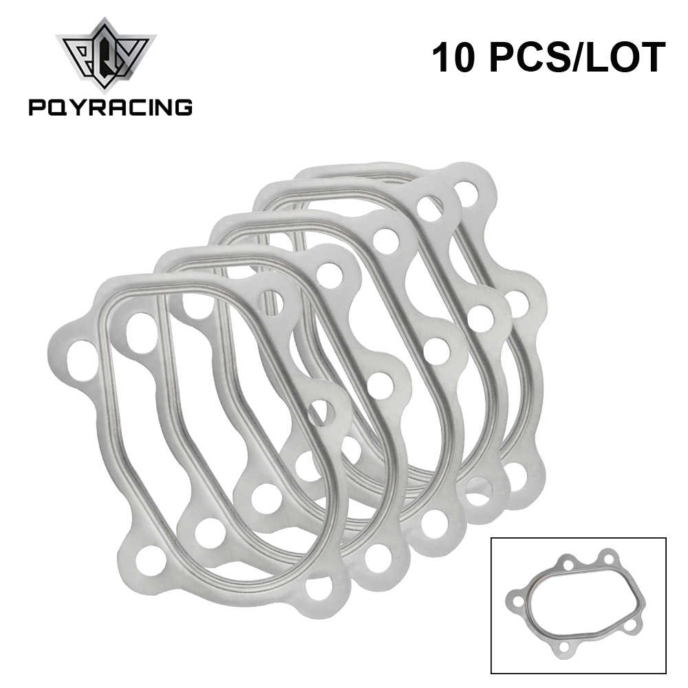 PQY - 10PCS/LOT For T25 T28  GT25 GT28 Turbocharger Gasket fitting FOR Turbo GT25 5 Bolt PQY4810