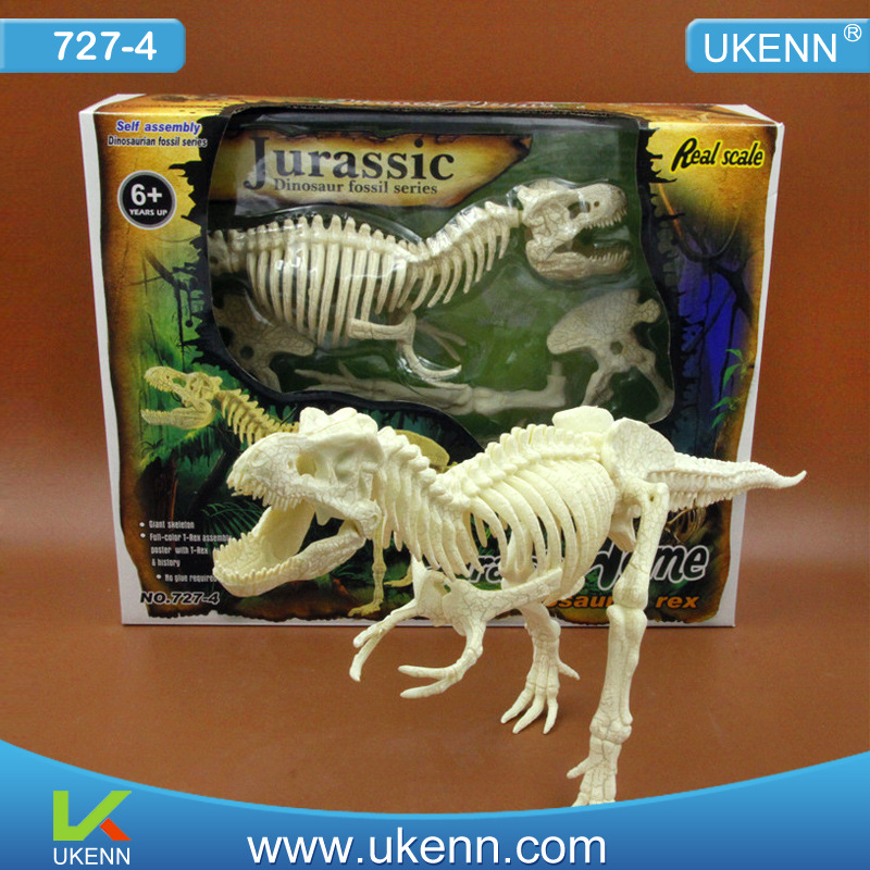 Big Size 50cm 4D Assembled Dinosaur Dinosaur Skeleton Model bwl 01 tyrannosaurus dinosaur skeleton model excavation archaeology toy kit white