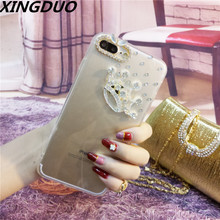 XINGDUO Fashion Bling Diamonds Crown Case Cover Clear Soft Phone Shell Protection For iphone X XS XR MAX 6 6s 7 8 plus 5s 5c