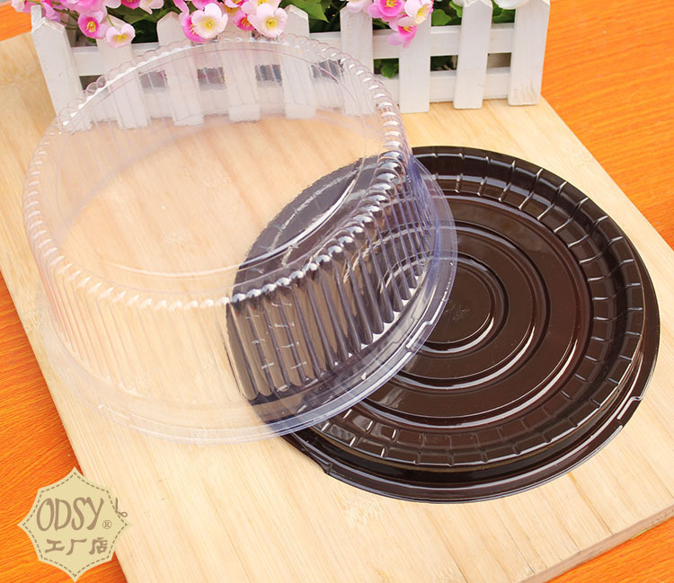 30 sets hold 6 inch Plastic clear Cake packaging Food storage Cupcake storage container boxes