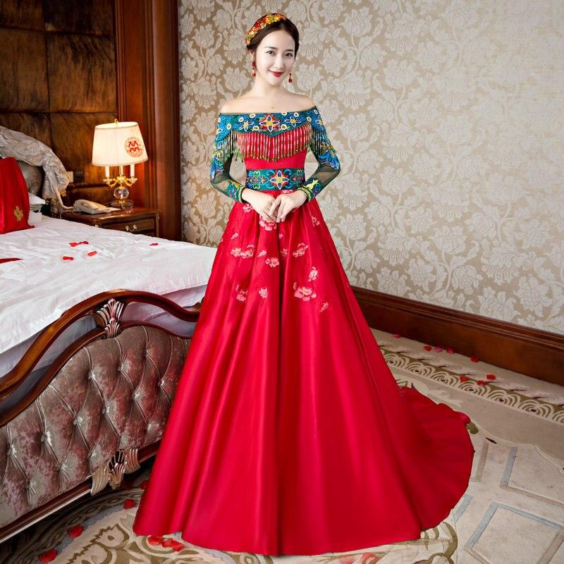Китайское платье свадебное