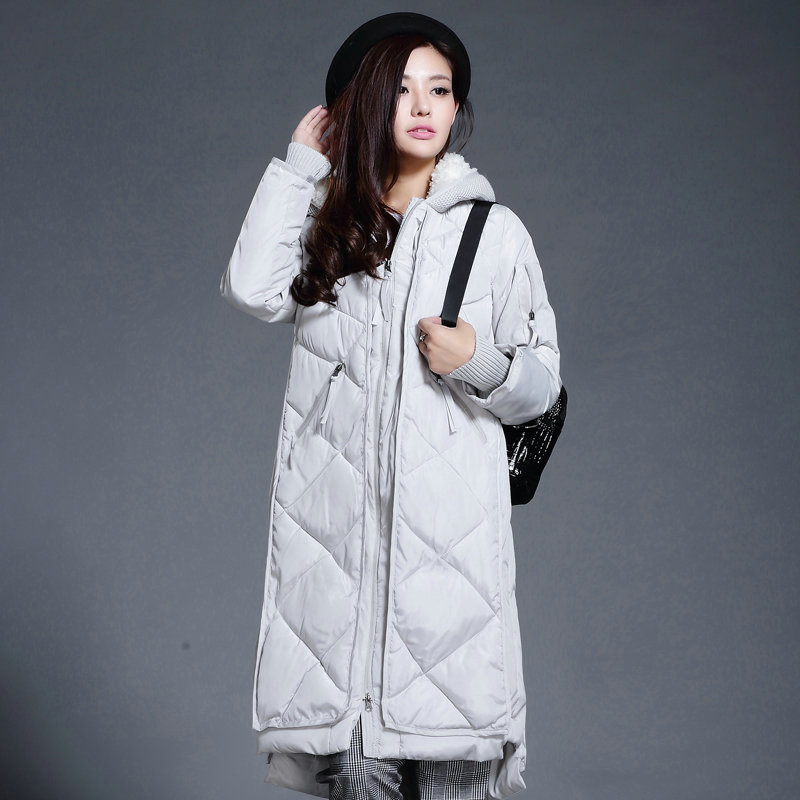 Wadded Jacket Female Winter Jacket Women Outerwear Loose Parka Jacket Long Cotton-Padded Jacket Hoodies Coats Ladies  C1218 linenall women parkas loose medium long slanting lapel wadded jacket outerwear female plus size vintage cotton padded jacket ym