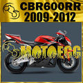 For CBR600RR 09-12 CBR 600RR 2010 2011 Injection Mold Fairing Red Black H69M148 Motorcycle ABS plastic
