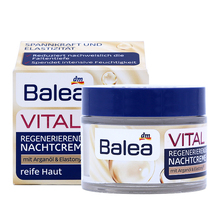 Balea Vital Baobab Regenerating Night Cream 50g for Women Mature Skin 40+Years Anti Aging Wrinkles Elasticity Firmnes