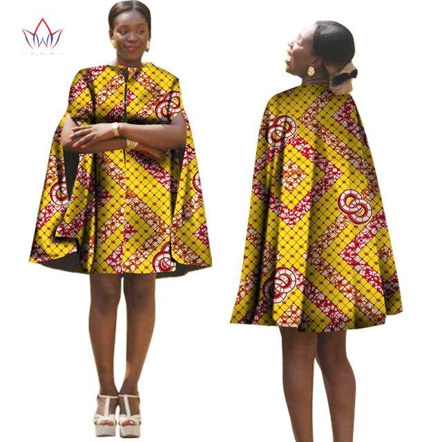 afrique d 39 t femmes robe avec cape traditionnelle africaine motif imprim robes retour zipper. Black Bedroom Furniture Sets. Home Design Ideas