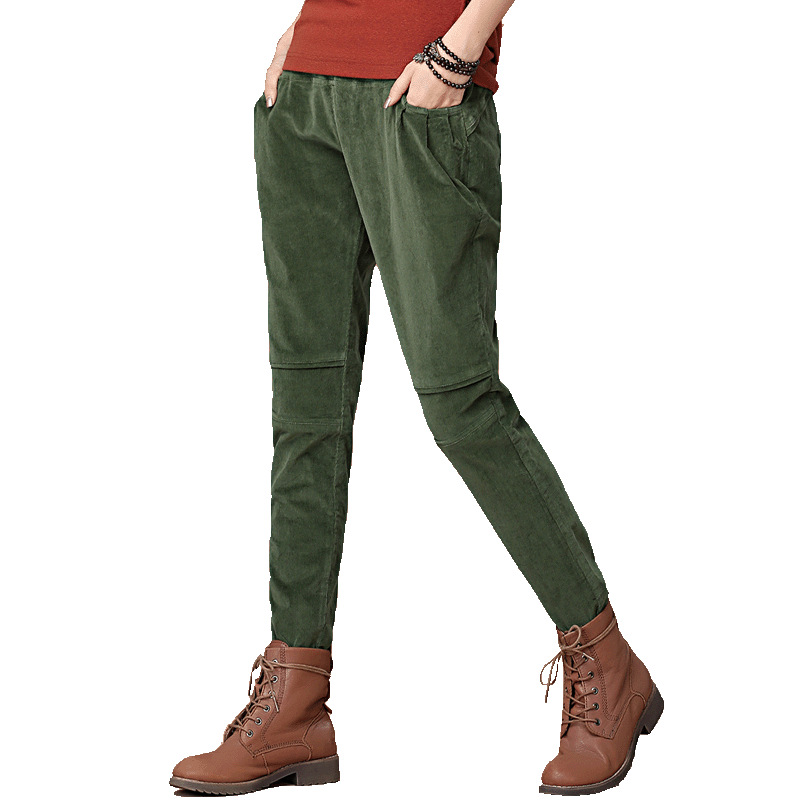 Popular Stretch Corduroy Pants Women-Buy Cheap Stretch Corduroy ...