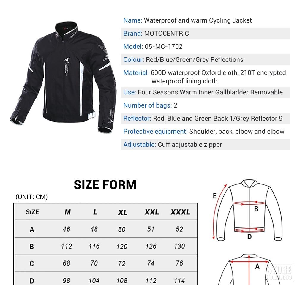 Veste de moto imperméable motocentrique veste d'équitation d'hiver armure de corps équipement de Protection veste de Motocross équipement de Protection - 3