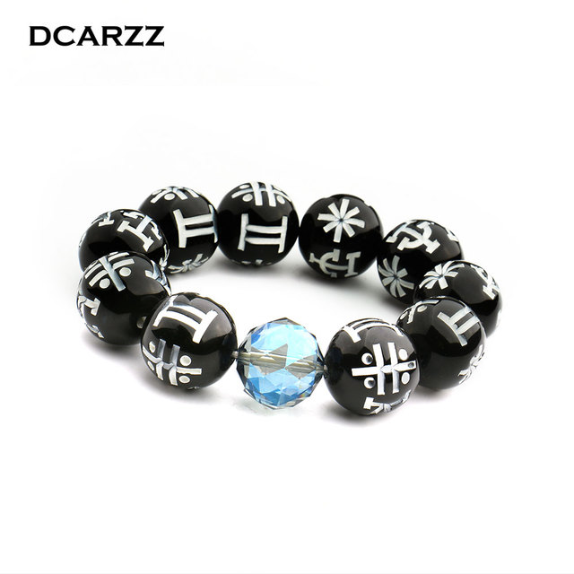Black Panther KIMOYO Bracelet Beads Wakanda T Challa Cosplay Jewelry  Women Men Props with d179127c2d94