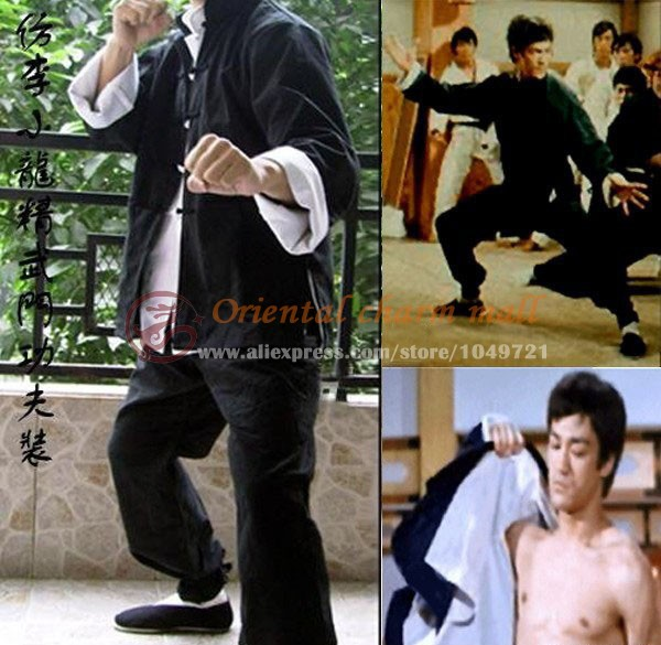 Vingate Cotton Bruce Lee 3 sets Classic Tang suit Kung Fu clothing martial arts wing chun outfit uniform Fist of Fury Costume high quality pure cotton tai chi suits traditional chinese men kung fu martial arts clothing sets wing chun tang suit clothes