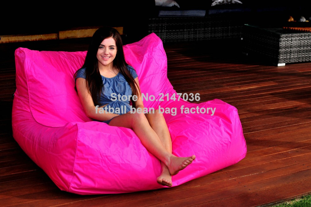 HOT PINK oversize bean bag chair outdoor waterproof beanbag sofa seat external and indoor furniture sets