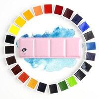 Paul Rubens 12/24/48 kolory profesjonalne stałe zestaw akwareli metalowe pudełko jasny kolor przenośny wody kolorowy obraz pigmentu w Akwarele od Artykuły biurowe i szkolne na