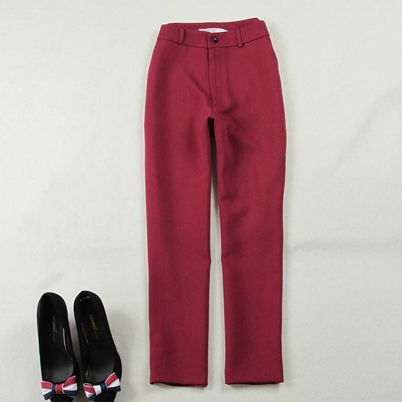 S-XL Women 2017 New Fashion Spring Autumn winter Style Wine Red  Pants Bodycon Suit 2 Piece Outfits pants suits for women