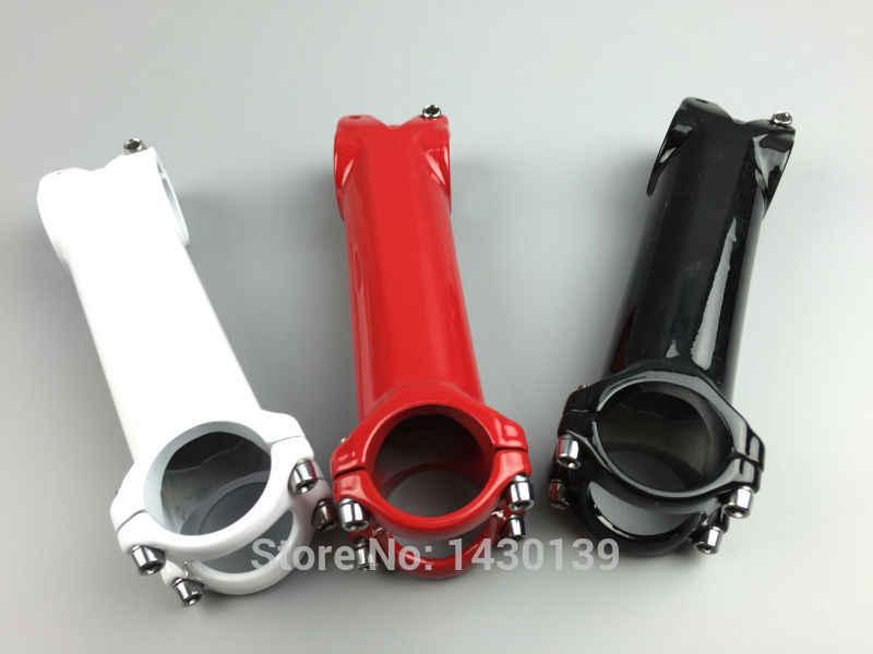 Nouveau blanc rouge route vélo 3D forgé en alliage d'aluminium tige plus légère VTT tiges vtt pièces 6 angle 31.8*60-120mm livraison gratuite
