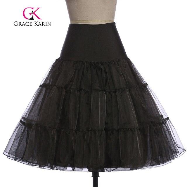 Grace Karin White Petticoat Short Black Red Women For Vintage 50s Dress Vintage Crinoline Rockabilly Petticoat Underskirt 2017