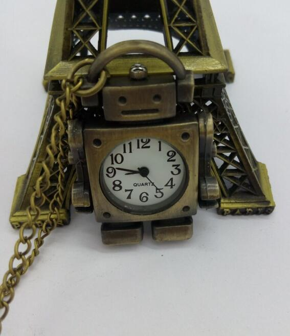 Enthusiastic Hot Sales Retro Classic Android Robot Bronze Pendant Quartz Pocket Watch Necklace 10pcs/lot Neither Too Hard Nor Too Soft Watches
