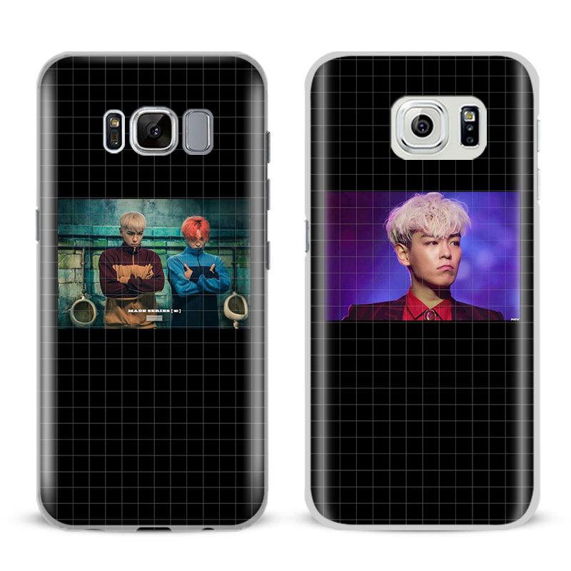 BigBang T.O.P For Samsung Galaxy S4 S5 S6 S7 Edge S8 Plus Note 8 2 3 4 5 A5 A710 J5 J7 2017 Fashion Mobile Phone Cases Cover bag