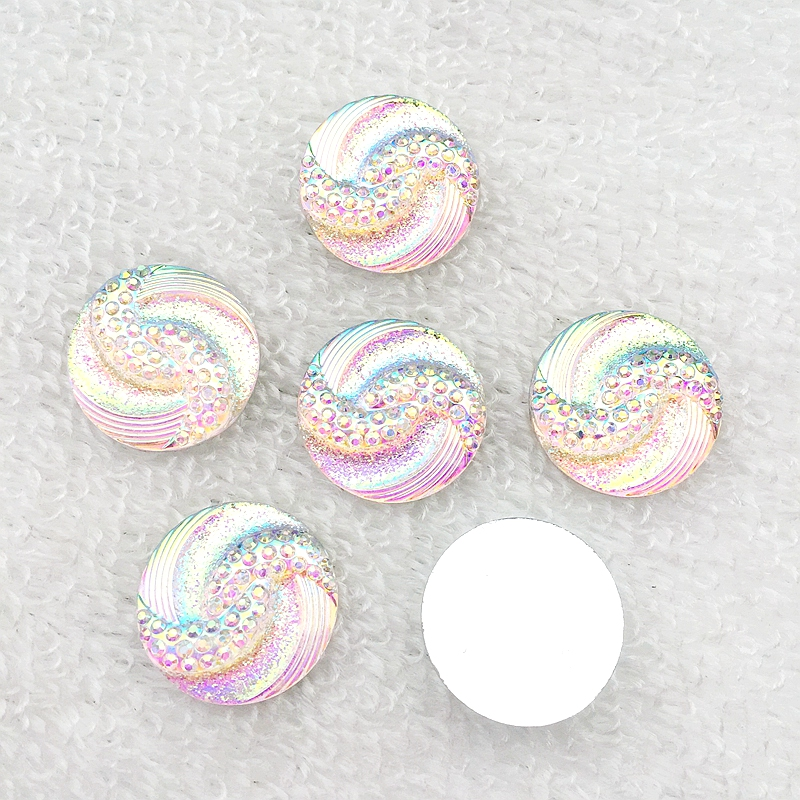 9colour 20Pcs 20mm AB flatback stones and crystals Resin Round Rhinestone trim DIY Wedding Dress Button-B06 3