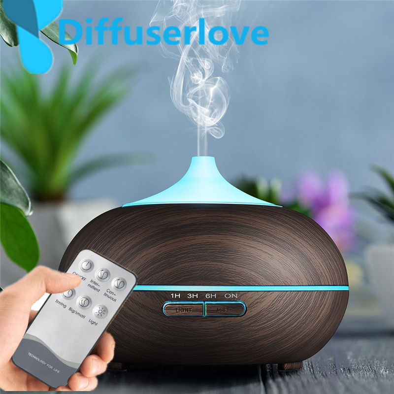 Diffuserlove 300ml Air Humidifier Wood Grain Ultrasonic Aroma Essential Oil Diffuser for Office Cool Mist  Bedroom Living Room  (China)