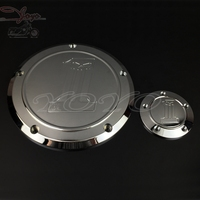 Motorcycle Chrome Skull Derby Cover Timer Cover For Touring Electra Glide Ultra Limited CVO Street Glide