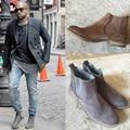 Estilo Retro kanye west hombres botas botas chelsea calidad Superior moda otoño botines de cuero Real 3 colores zapatos de los hombres