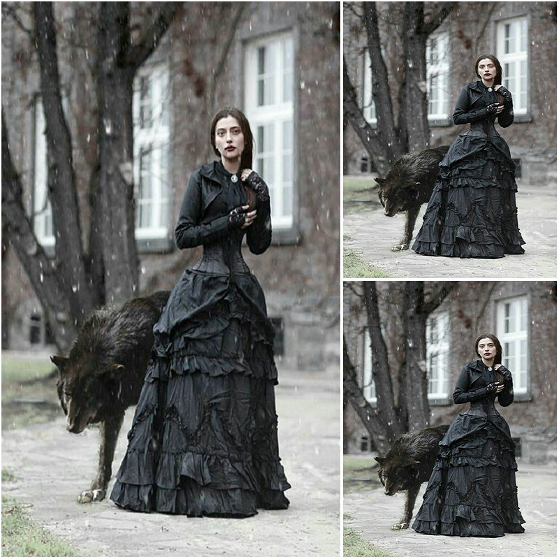 on sale sc 1218 victorian gothiccivil war southern belle ball gown dress halloween theater edwardian dresses sz us 6 26 xs 6xl in dresses from womens