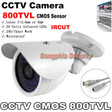 "800TVL 1/4"" CMOS Sensor CCTV Camera Outdoor Waterproof With IRCUT Filter Color Image Night Vision For Security Camera System"
