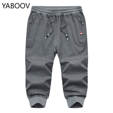 2019 Summer New Fashion 3/4 Calf Length Pants Men Casual Cropped Trous