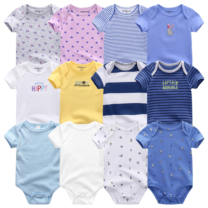 Uniesx יילוד תינוק Rompers בגדי 7 יח'\חבילה תינוקות סרבלי 100% כותנה ילדי Roupa דה Bebe בנות & בני תינוק בגדים
