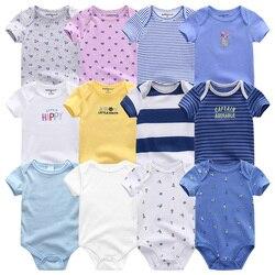 Uniesx 7 pçs/lote Infantil Macacões Roupas de Bebê Macacão de Bebê Recém-nascido 100% Algodão Crianças Roupa De Bebe Meninas & Meninos Roupas de Bebê
