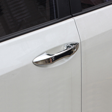left hand drive car !!  Exterior Car-Styling ABS Chrome Car Door Handle Cover Trim 8pcs  For Toyota Corolla 2014 2015 2016 2017